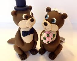 otter cake topper giraffe wedding cake topper choose your colors