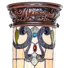 27 stained glass magna carta lit pedestal lamp 14028 tiffany