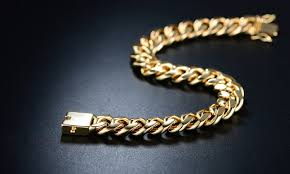 gold box chain bracelet images Up to 46 off on 18k gold cuban chain bracelet groupon goods jpg