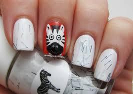 tutorial tuesday zebra nail art adventures in acetone