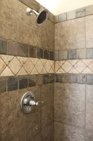 fetching image of bathroom decoration with tumbled marble tile