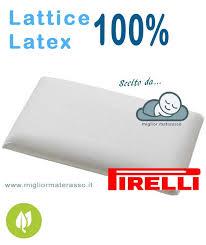 miglior materasso in lattice cuscini lattice pirelli miglior prezzo acquista on line