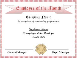 employee of the month templates templates franklinfire co