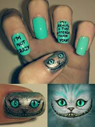 cheshire cat alice in wonderland u003c nail art my nails