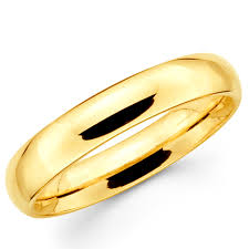 gold bands rings images 14k solid yellow gold 4mm plain men 39 s and women 39 s wedding band jpg
