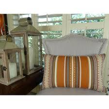 chic stripe saffron 20 in x 30 in orange olive and cream