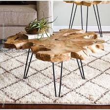 tree trunk coffee table coffee table tree stump wayfair