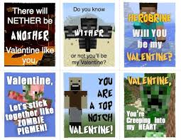 minecraft valentines cards crafts archives healthy family