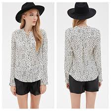 forever 21 white blouse 20 forever 21 tops forever 21 black white dot blouse shirt
