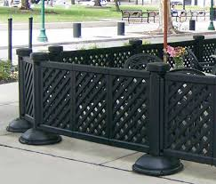 Patio Fence Ideas by Wooden Portable Patio Fence With Black Color Theme Home Interior