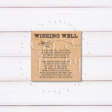 vacation wedding registry wood destination wedding wishing well card