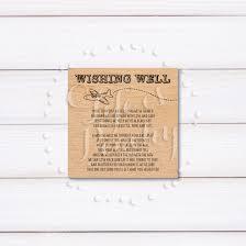 Wedding Gift Destination Wedding Wood Destination Wedding Wishing Well Card