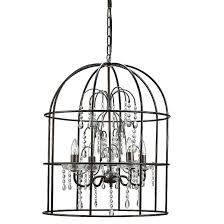 Birdcage Chandeliers Metal Birdcage Chandelier With Crystals Black Target