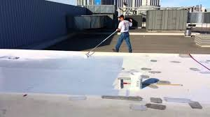 Sta Kool Elastomeric Roof Coating by How To Install Smartroof Silicone Roof Coating Roller Application