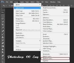 перевод image adjustments replace color изображение