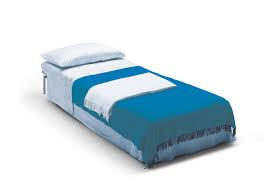 letto singolo con materasso poltrona letto in tessuto sfoderabile