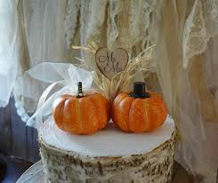 fall wedding cake toppers fall wedding cake topper mini pumpkin topper groom country