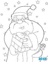 santa claus smiling coloring pages hellokids com