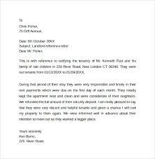 Reference Letter reference letter sle basic landlord reference letter landlord