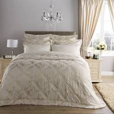 christy romeo jacquard damask linen quilted bedspread dove mill