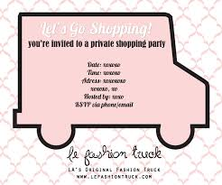 sip and shop invitation le fashion truck host a party