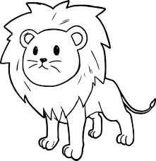 cute cartoon comic lion coloring page wecoloringpage