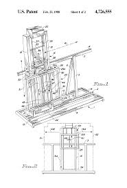 patent us4726555 vertically and horizontally adjustable easel
