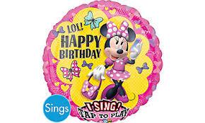 singing balloons singing birthday balloons party city