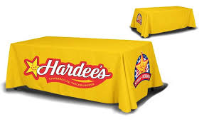 8 ft table cloth with logo 8ft table covers 4 sided san antonio tx la luz printing company