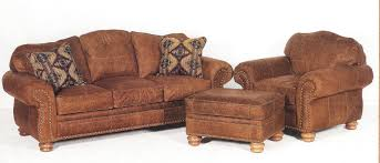 Rustic Leather Sofas Distressed Leather Sofa Chair And Ottoman
