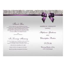Wedding Ceremony Programs Wedding Ceremony Program Gifts On Zazzle