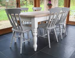 Painted Kitchen Tables And Chairs by Chilmark Table With Cottage Chairs Hand Painted Painted