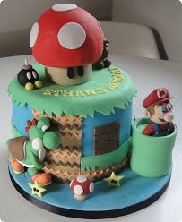 mario cakes three mario cakes between the pages