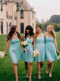 navy blue tiffany blue royal blue dresses for bridesmaids pwd