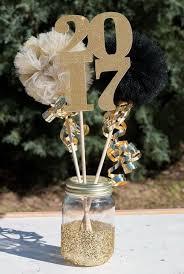 graduation table centerpieces graduation party decoration ideas gold glitter centerpieces and dips