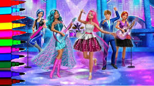 barbie coloring book pages rock n u0027 royals kids fun art learning