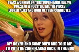 Rooster Jokes Meme - dumb blonde joke 1 imgflip