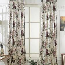Waverly Curtains And Drapes Reddish Brown Waverly Jacquard Polyester Shabby Chic Curtains