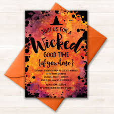 wicked good time invitation 14 printable halloween party