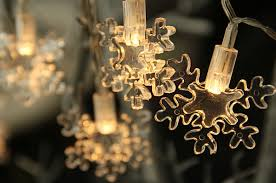 snowflake string of lights battery operated led snowflake string lights 6 5 feet buy now