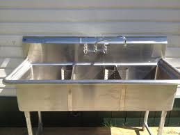 Stainless Steel Utility Sink In Kitchen Commercial Interior - Kitchen and utility sinks