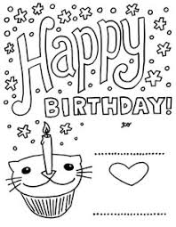 happy birth coloring pages popular kids age
