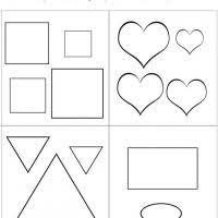 free printable large shapes large or small shapes comparison