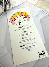 Wedding Invitations With Menu Cards Menu Card Ideal For Weddings Rehersal Dinners Christenings 3 5