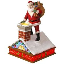 once upon a up on the housetop santa ornament with