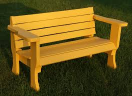 Simple Wood Bench Instructions by Park Bench Plans Treenovation
