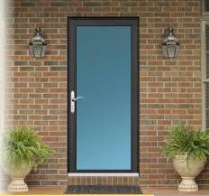 Plain Exterior Doors Door Plain Glass With Black And Silver For My Front Door