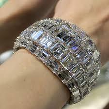 diamond emerald bracelet images Emerald cut diamond high jewellery cuff moussaieff the jpg