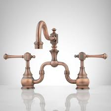 kitchen faucet copper l copper kitchen faucet polished marvelous vintage bridge lever