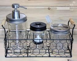 Mason Jar Tea Light Holder Chicken Wire Caddy For 3 Pint Mason Jars